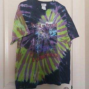 Tower of Terror tie-dye Disney shirt